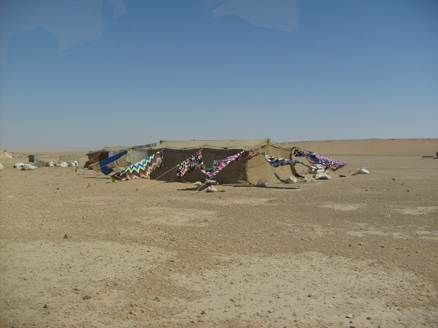 Some Bedouin tents 2 km from the Confluence