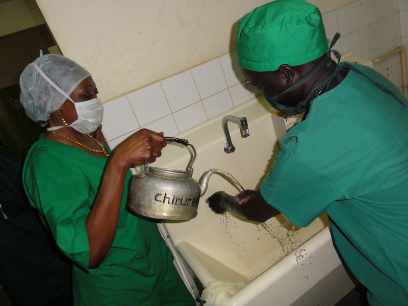 Surgical hand washing - Chadian style!