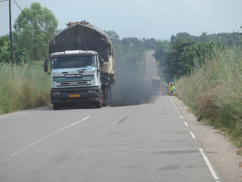 Heavy loads damaging the roads of Africa
