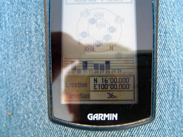 Close-up of the GPS receiver