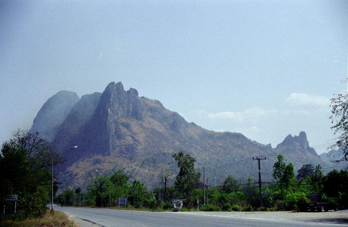 Mountains along road 201 about 22km south of confluence