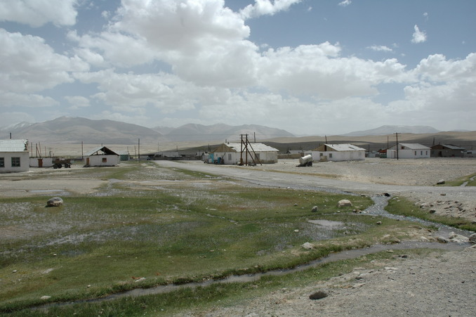 A view Alichur from the Pamir Highway - starting point of our hunt