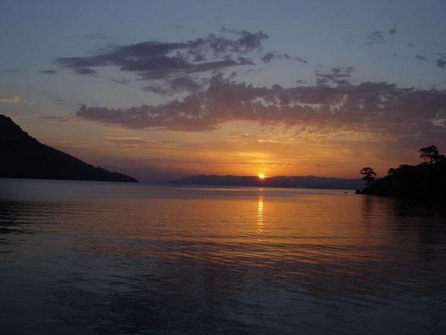 Sunrise in a quiet bay of the Gulf of Gökova