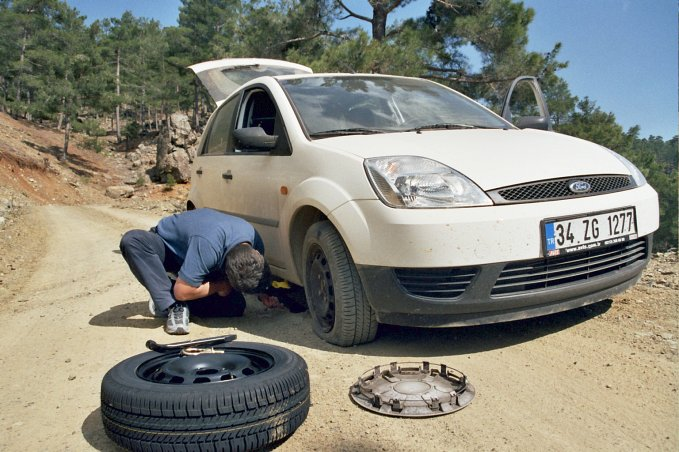 The flat tyre