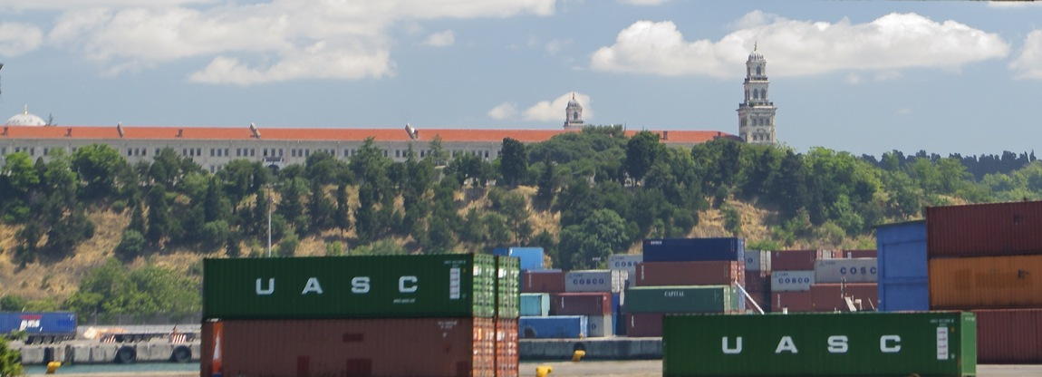 View East (of shipping containers near Kadıköy, on the Asian side of İstanbul)