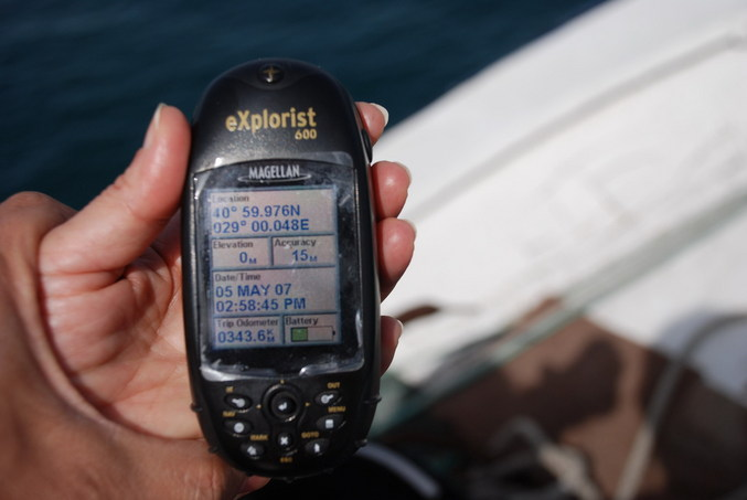 GPS - 80 meters short from the all-zeros point