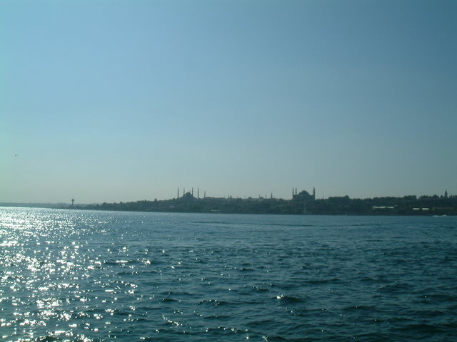 West view with Blue Mosque and Hagia Sophia