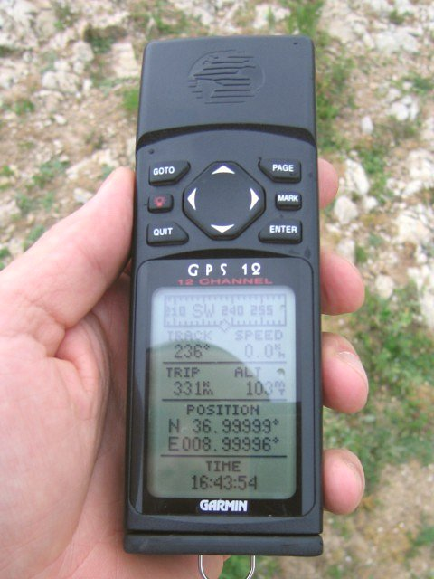 View of GPS device at the CP