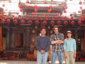 #7: Frank, Greg and Anny in front of Chenghuang temple in Puli