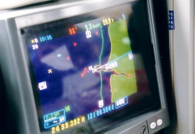 Marine GPS with confluence position