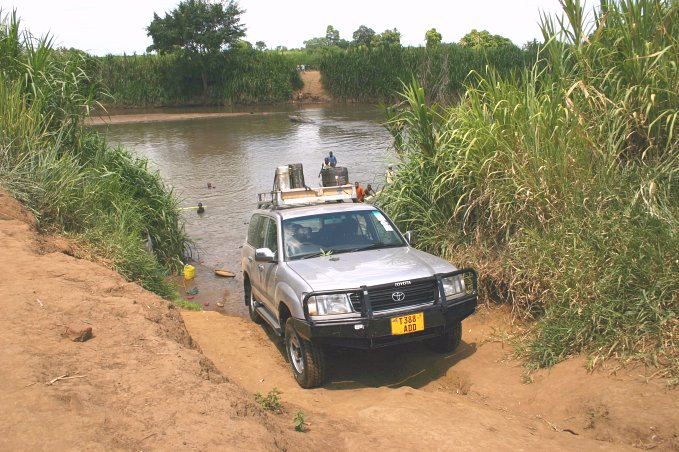 Crossing Ruvu River
