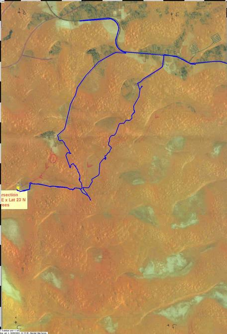 Satellite picture of our route
