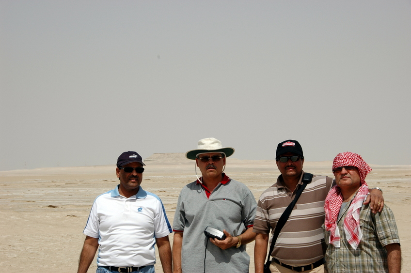 The Team (L-R) DS Shekhawat, Ajay Sikri, Anand Srivastava, and Sanjay Hallon. Karan behind the camera