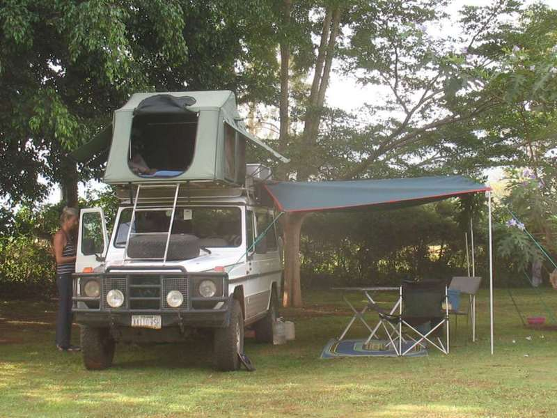 Camp site at the Bujagali falls
