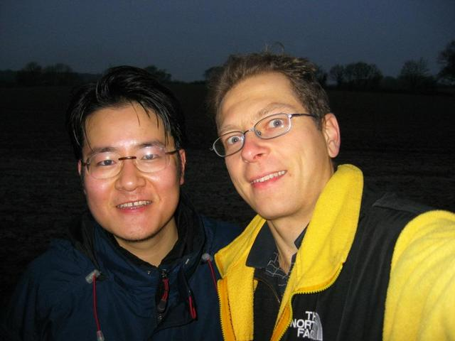Xiang and Rainer in fading Daylight at the DCP