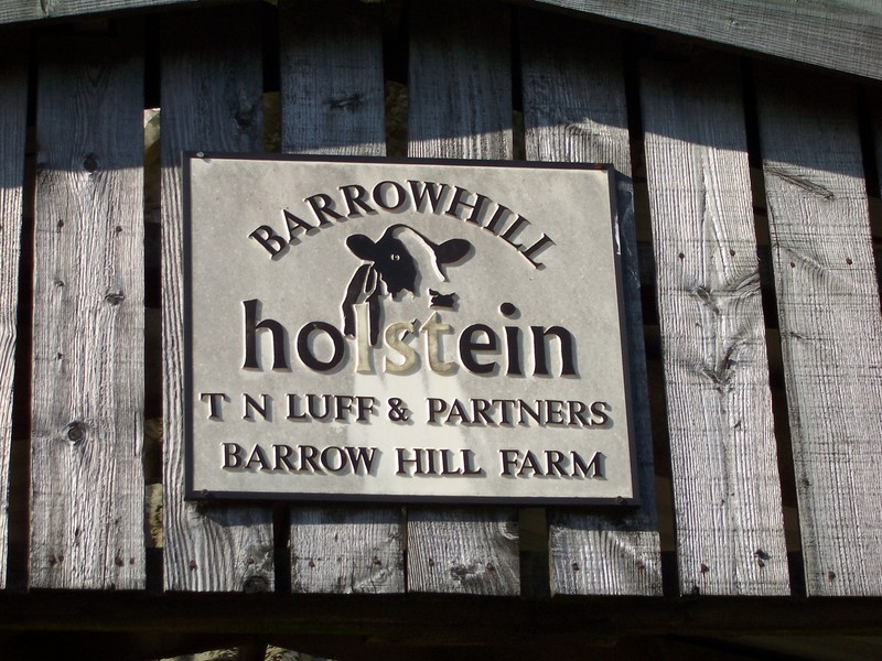 sign on the barn