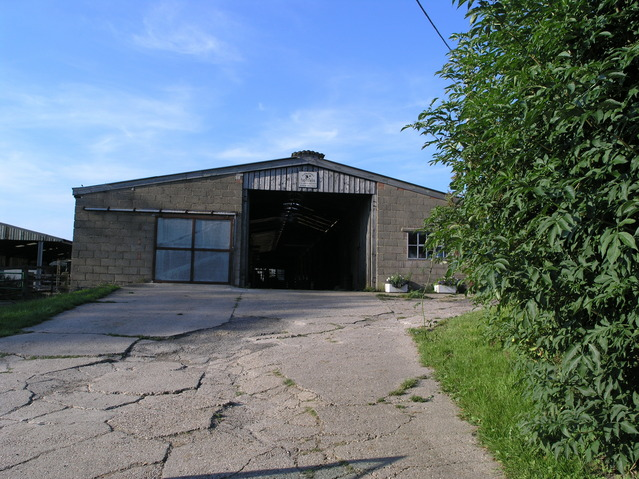 Farm building adjacent to the point