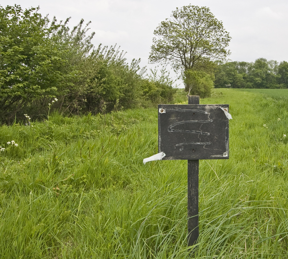 Remains of SSSI sign