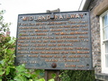 #5: No Trespassing sign from 1899 at Lowdham Station
