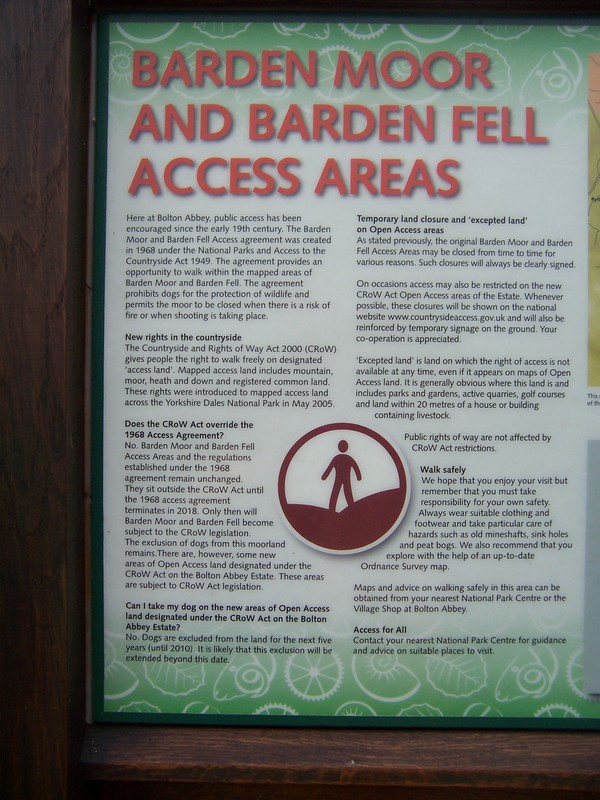 access information for Barden Moor and Barden Fell