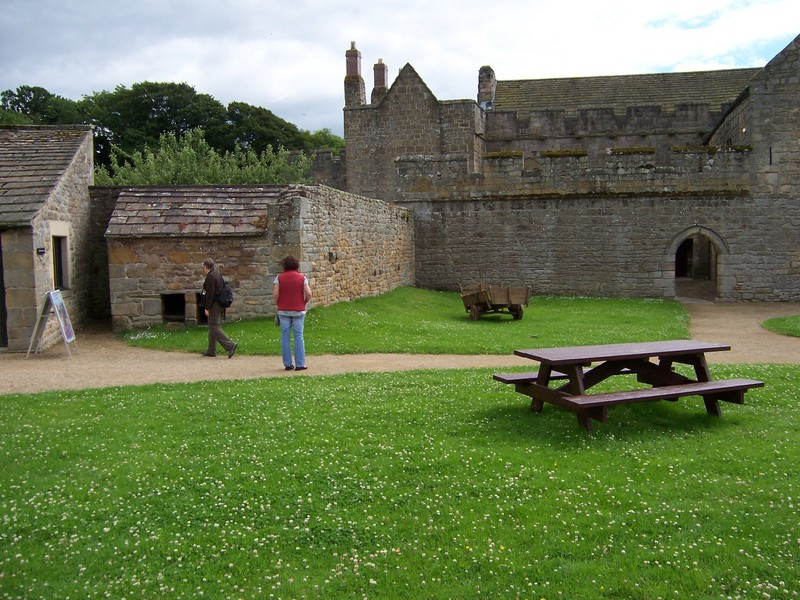 inside the walls of Aydon Castle