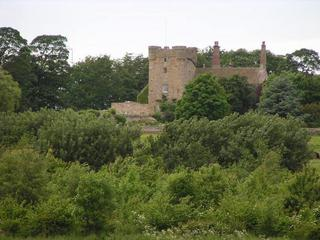 #1: Aydon Castle seen from the confluence