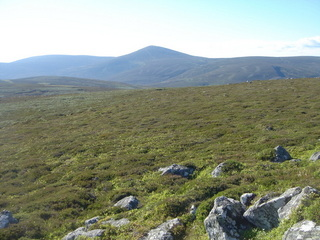 #1: General view of the point as we approaced from the northwest, mount keen in view.