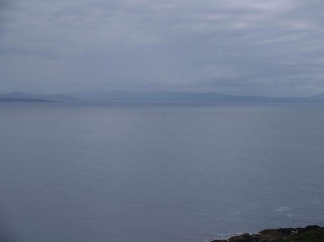 the view to the south - the boat probably marks the spot