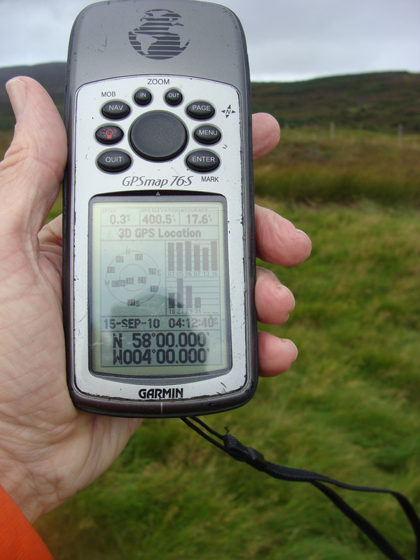 Ten zeroes on the bank of Golspie Burn.