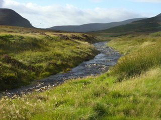#1: Golspie Burn flows by just south and west of 58N 04W.