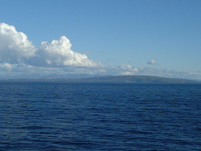 coast around Cape Rubha Reidh seen from the confluence
