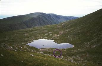 #1: Loch Braigh Bheagarais and 58N 7W from the slopes of Tiogra Mor