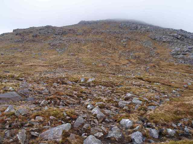 east from the confluence - the slopes of Tiogra Mor