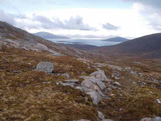 the view south from the lip of the cwm towards Taransay