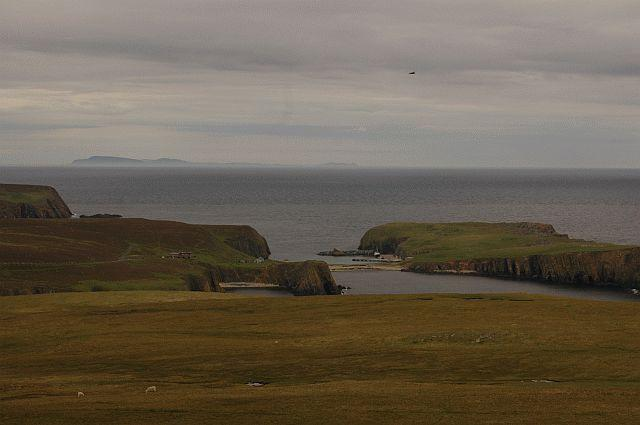 The Confluence as it seen from the S, from atop Fair Isle