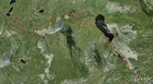 #7: Our track on the satellite image (© Google Earth 2009)