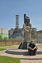 #8: Jan near the Chernobyl nuclear reactor / Jan vor Reaktor #4 in Tschernobyl