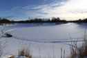 #6: The bend in the slough where I parked my snowmachine and started walking.