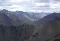 #3: View East from confluence ridge to Sheenjek River, our camp at fork