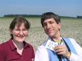#2: Kathrin Viehrig and Joseph Kerski standing in a field in Arkansas.