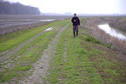 #4: Jon on the irrigation ditch path leading to the confluence