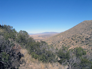 #1: View north from confluence towards Mt Graham. Not much has changed in the 11 years since my last visit