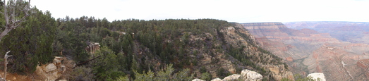 #1: SWN panoramic view shot at the intersection of W112 and the south rim of the Grand canyon
