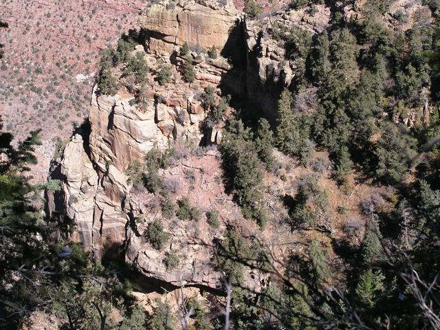 36N112W rests near the edge of the Toroweap formation, just above the steep Coconino Sandstone