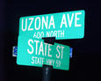 #3: The street sign for Uzona Avenue