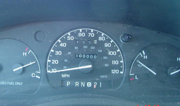 The odometer in my Ranger reached 100k on the way back.