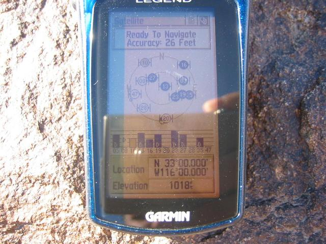 Perfect GPS reading at the confluence