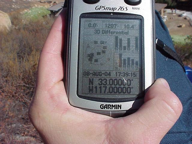 Confluence coordinates on GPS unit on a summer's afternoon.