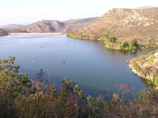 Lake Poway, where I began my hike