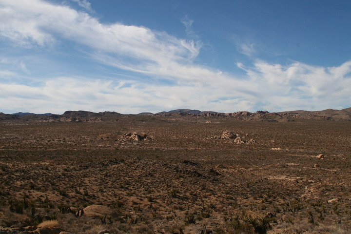 This picture shows the Belle campground, looking back from about halfway along the hike.
